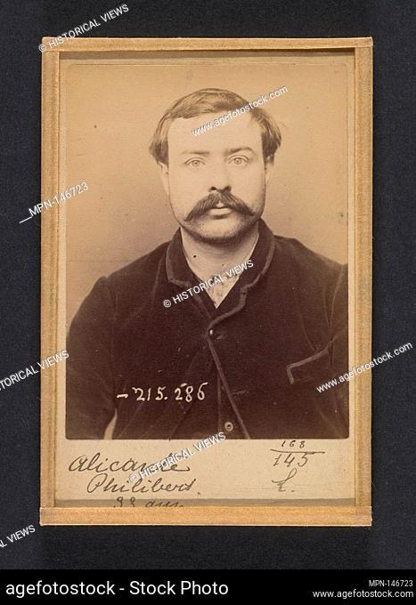 Alicante. Philibert. 33 ans, né à Seire (Seine & Oise). Coupeur de talons. Anarchiste. 7/3/94. Artist: Alphonse Bertillon (French
