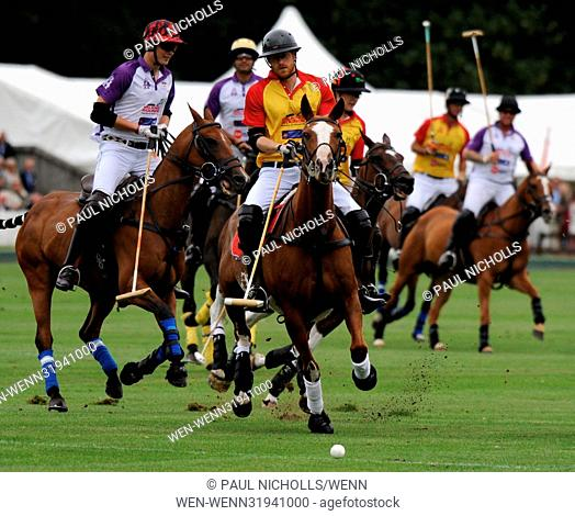 Prince Harry and Prince William play in the Jerudong Park Trophy Polo Featuring: Prince William, Prince Harry Where: Oxford