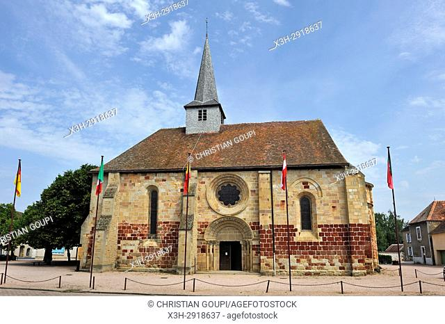 church Saint-Jacques-le-Majeur at Villefranche-d'Allier, Allier department, Auvergne-Rhone-Alpes region, France, Europe