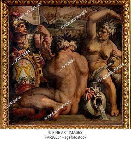 Allegory of Casentino by Vasari, Giorgio (1511-1574)/Oil on wood/Mannerism/1563-1565/Italy, Florentine School/Palazzo Vecchio, Florence/250x250/Mythology
