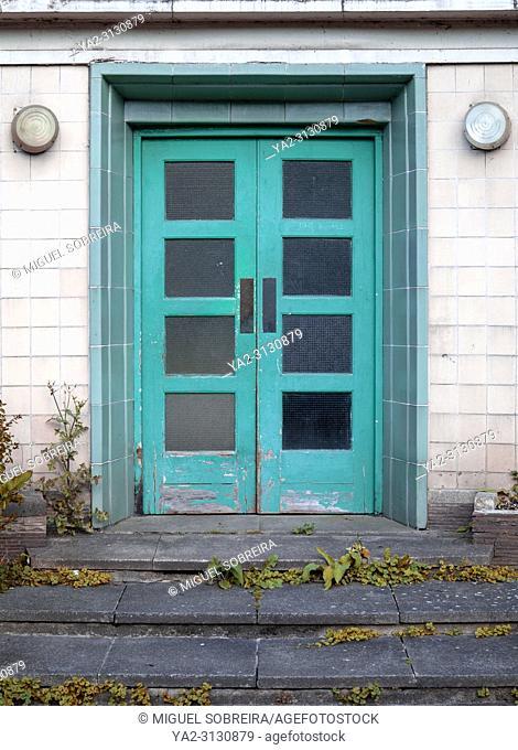 Worn Cyan Deco Doorway