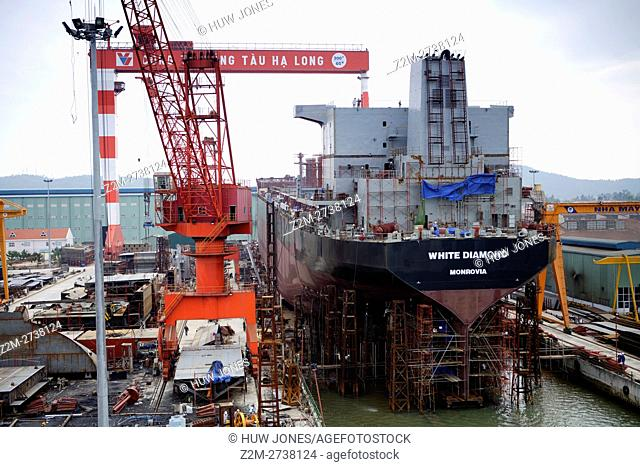 Shipbuilding, Ha Long Ship Yard, North Vietnam, Asia