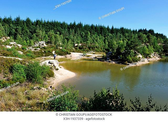 ancient kaolin quarry on the commune of Echassieres, Allier department, Auvergne region, France, Europe