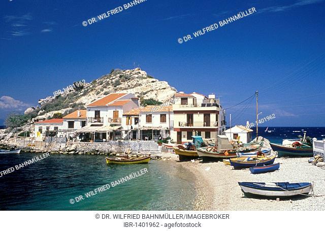 Kokkari Village, Samos, Sporades, Greece, Europe