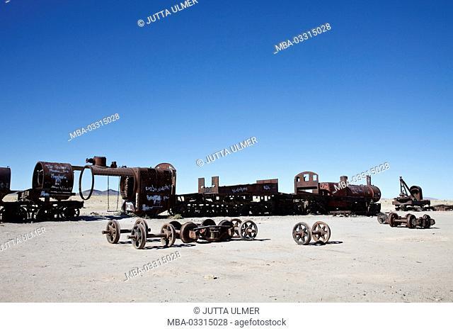 Bolivia, Salar de Uyuni, Uyuni, Cementerio de Trenes