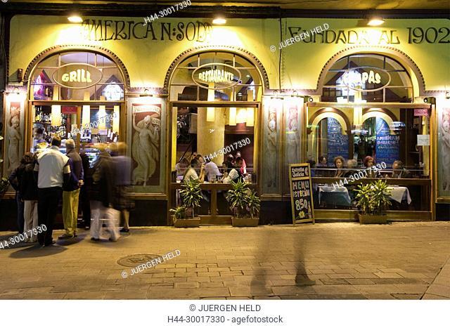 Spain, Catalonia, Catalunya, Barcelona, La Ramblas, Tapa bar 1902, Restaurant American soda