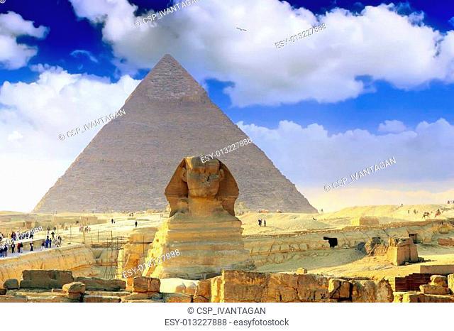 Great Pyramids Cairo .Egypt