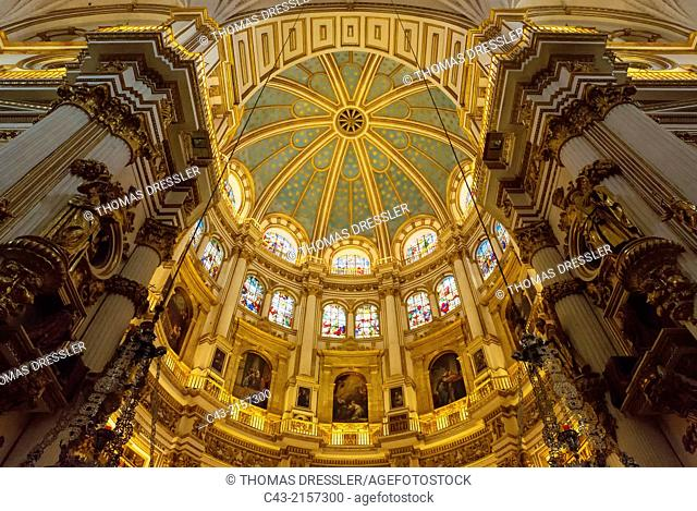 Central dome of the Cathedral in Granada, Granada province, Andalusia, Spain
