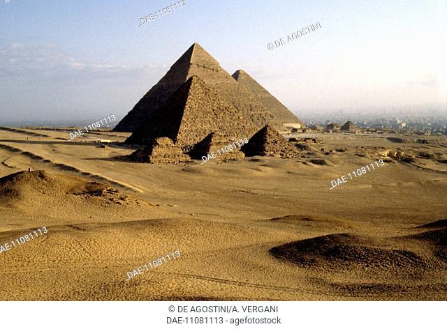 The Pyramids, Giza Necropolis (UNESCO World Heritage List, 1979), Egypt. Egyptian civilisation, Old Kingdom, Dynasty IV