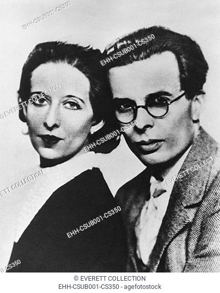 Aldous Huxley and his first wife, Maria Nys Huxley, ca. 1930. Huxley was the author of the dystopian classic, BRAVE NEW WORLD