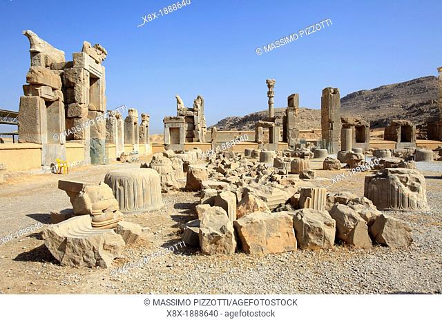 Ruins of the Hall of 100 columns, Persepolis, Iran