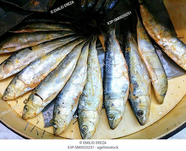 Salted herrings for sale