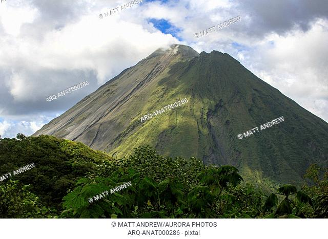Arenal Volcano, an active volcano sits in the province of Alajuela, Canton of San Carlos, and district of La Fortuna, Costa Rica