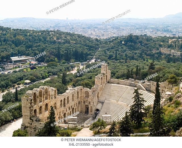 acropolis, amphitheatre, Greece, Athens