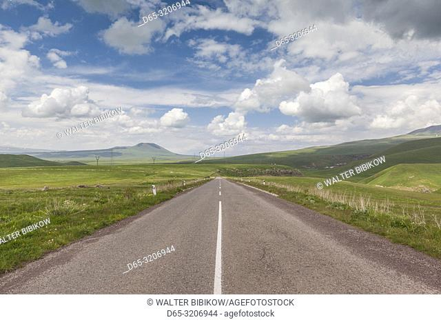 Armenia, Selim Pass Road, mountain highway by the Selim Pass