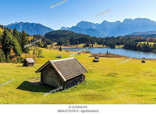 Gerold, Garmisch Partenkirchen, Bavaria, Germany, Europe. Autumn season in Gerold