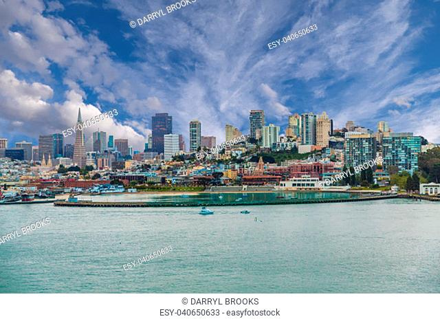 A view of San Francisco from the sea