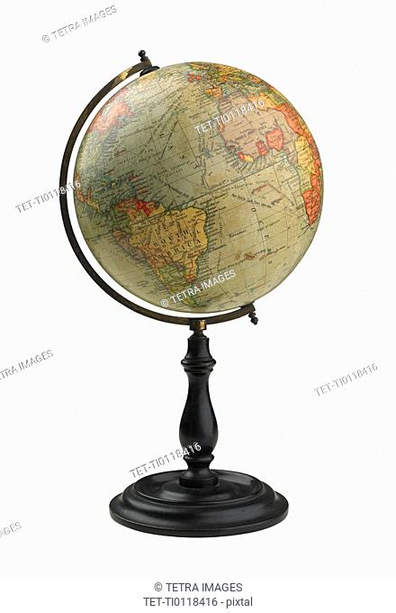 Still life of globe