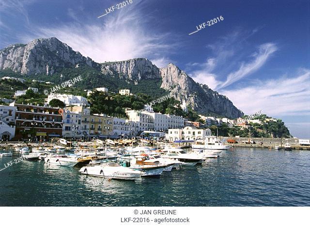 Boats in the harbour, Marina Grande, Capri, Campania, Italy