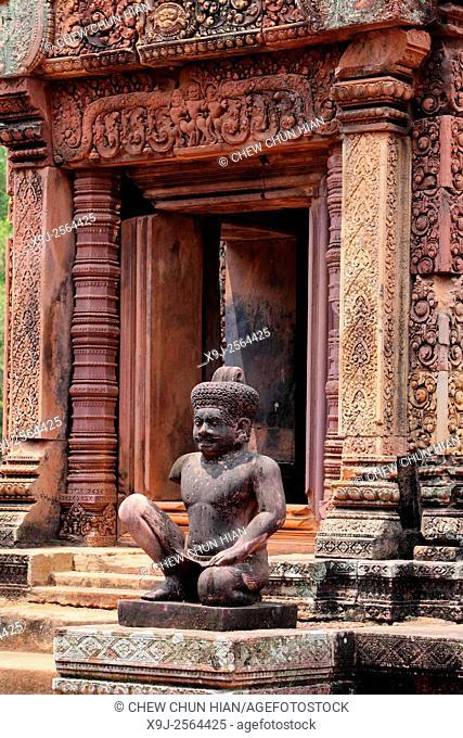 Apsara, Banteay Srei temple, Angkor, Siem Reap, Cambodia