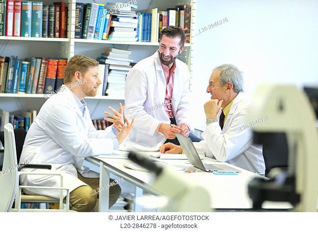 Meeting of doctors, clinical session, Hospital, Donostia, San Sebastian, Gipuzkoa, Basque Country, Spain