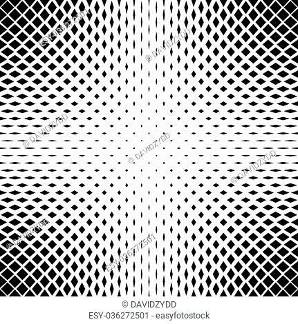 Black and white vector square pattern background