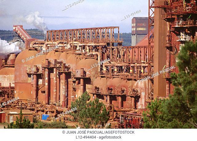 Aluminium factory, San Cibrao. Lugo province, Galicia, Spain