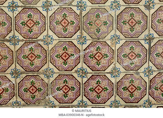 Portugal, Lisbon, tiles, tiling, wall decoration, wall