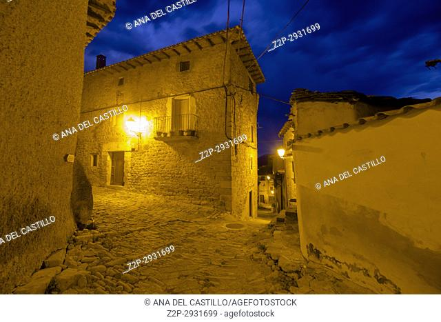 Gallipienzo old village in Navarre mountains Spain
