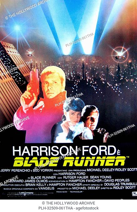 Blade Runner - Italian Poster 1982 Warner Bros. Harrison Ford, Rutger Hauer, Sean Young