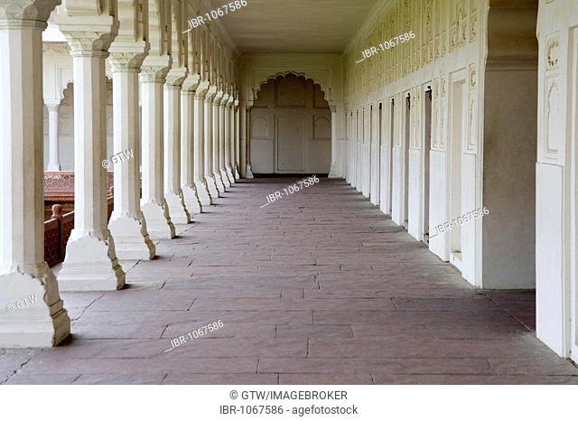 Red Fort of Agra, interior, UNESCO World Heritage Site, Uttar Pradesh, India, South Asia