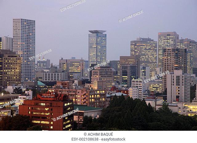 Seoul City in South Korea at night