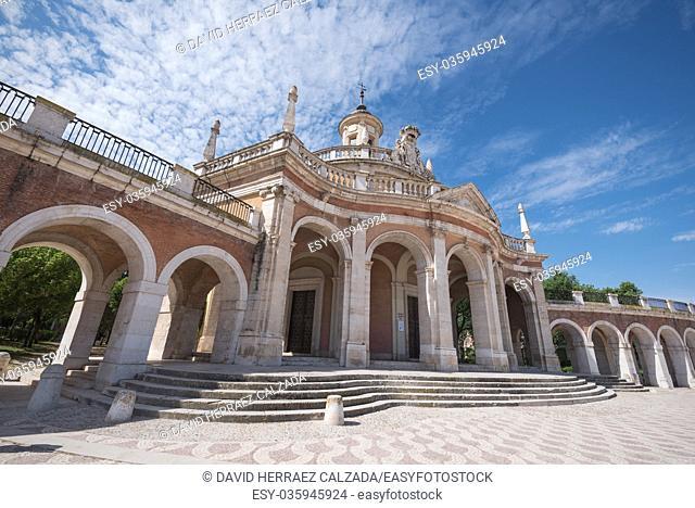 Aranjuez famous landmark, San Antonio de Padua church, Madrid, Spain