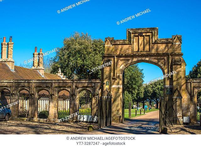 Holkham Hall North gate, North Norfolk, East Anglia, England, UK