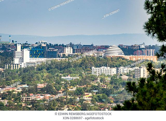 Cityscape of downtown Kigali, the growing capital city of Rwanda
