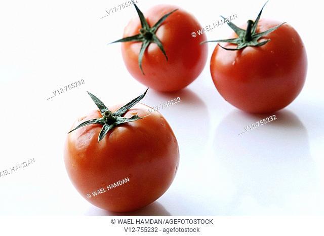 Isolated Tomatoes fruit