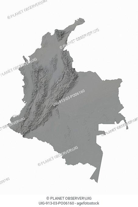Colombia, Relief Map