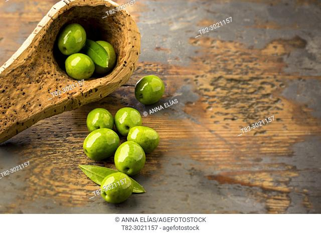 table olives, Andalusia, Spain Europe