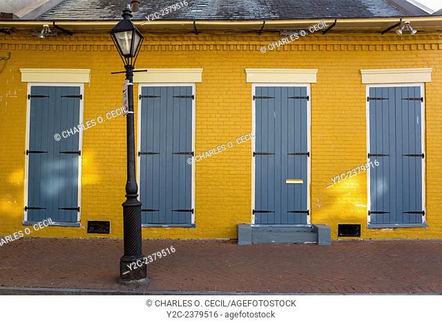 French Quarter, New Orleans, Louisiana. Creole Cottage Style House