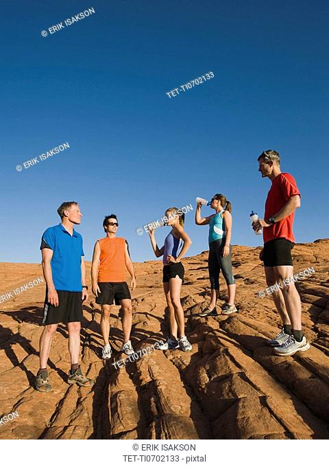 Runners at Red Rock taking a break