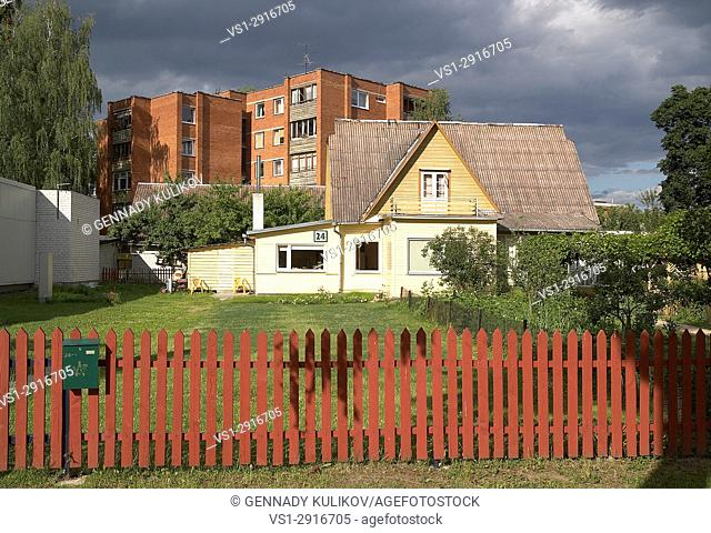 Residential houses in the town of Druskininkai, Southern Lithuania, Europe