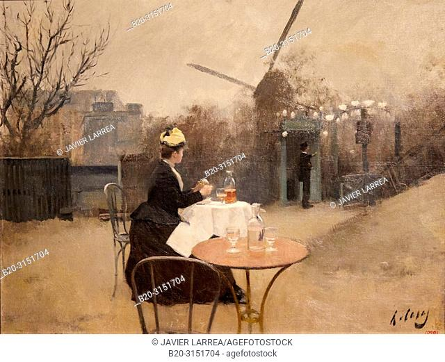 """""""Plein air"""", c. 1890-1891, Ramon Casas, National Museum of Catalan Art, Museu Nacional d Art de Catalunya, MNAC, Barcelona, Spain, Europe"