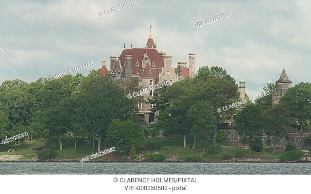 Boldt Castle on the Saint Lawrence River in the Thousand Islands region near Alexandria Bay, New York