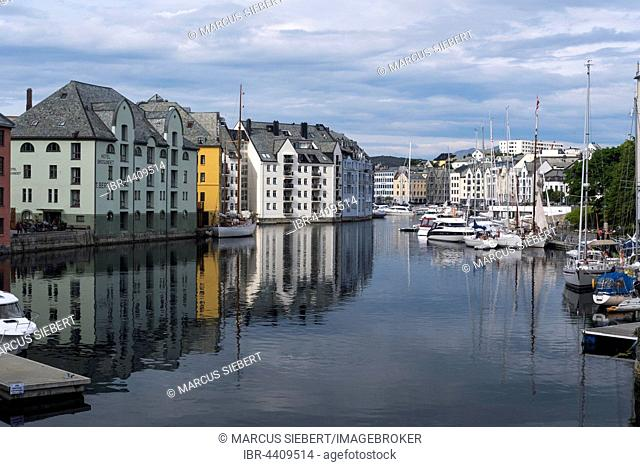 Inner Harbour, Alesund, Møre og Romsdal, Norway