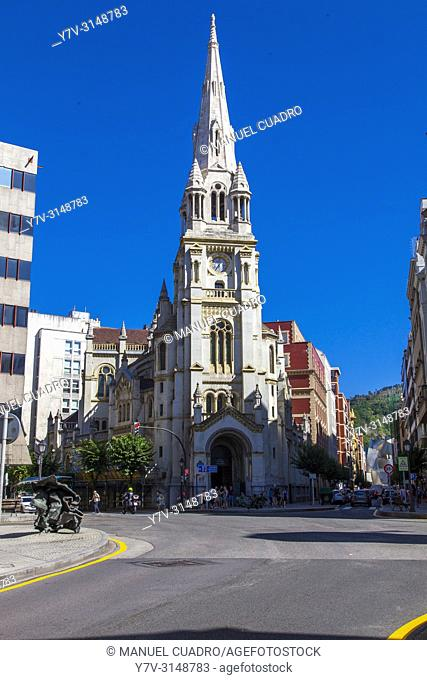 Iglesia de San josé, plaza de San José, Bilbao, Basque Country, Spain