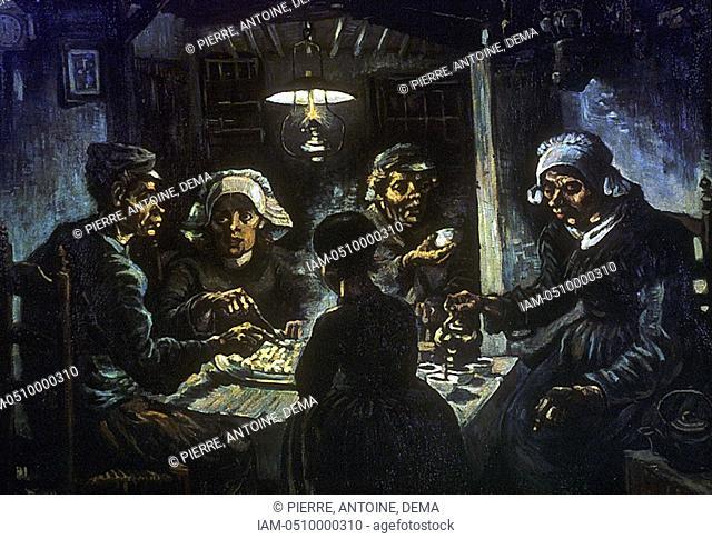 Vincent Van Gogh 1853-1890 Dutch: Post-Impressionist  The Potato Eaters 1885  Van Gogh Museum, Amsterdam
