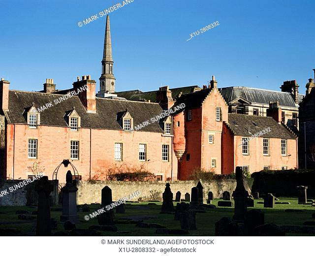 The Abbot House from the Abbey Churchyard Dunfermline Fife Scotland