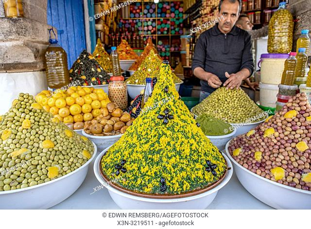 Assorted Fresh Foods on Market Stand, Essaouira, Marrakesh-Safi, Morocco