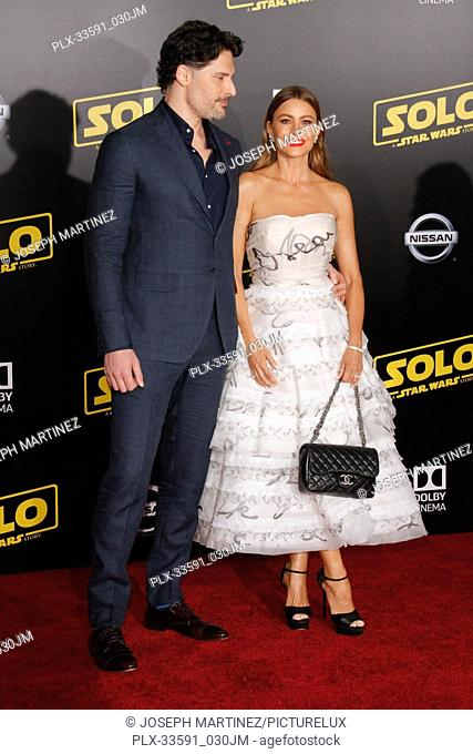 """Joe Manganiello, Sofia Vergara at the Premiere of Lucasfilm's """"""""Solo: A Star Wars Story"""""""" held in Hollywood, CA, May 10, 2018"""