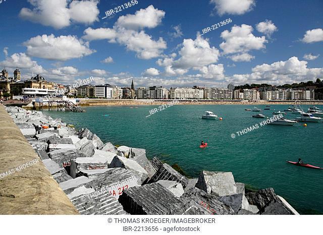 Cityscape of San Sebastian, Basque: Donostia, Basque Country, northern Spain, Spain, Europe